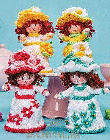 Вязаные куклы «Пирожные с сюрпризом»