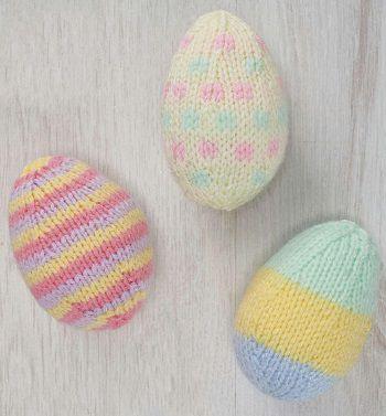 вязаные яйца